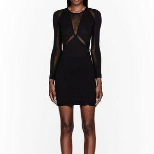 IRO black mesh trimmed Derova Dress size 38